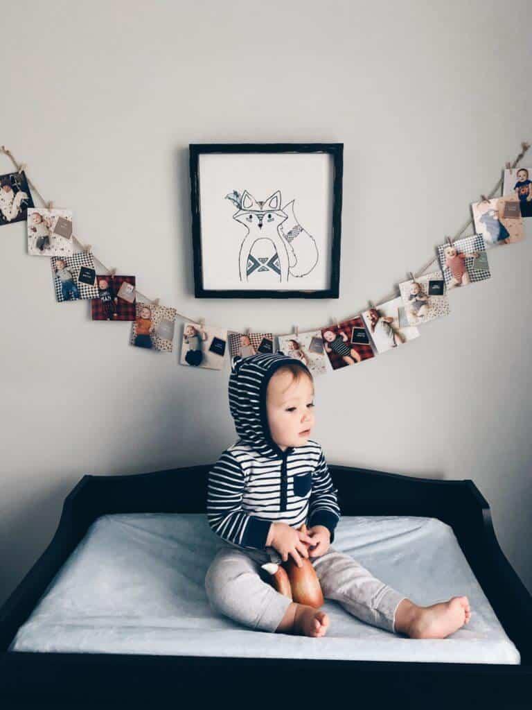 Rustic way to hang photos