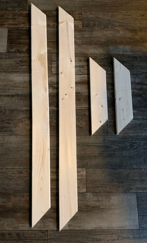 cut pieces of wood