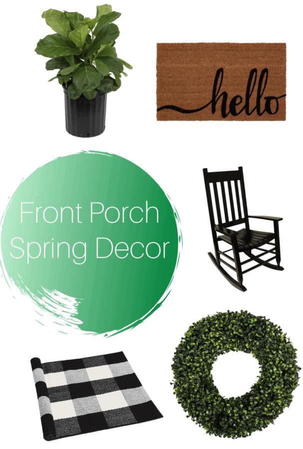 Front Porch Spring Decor