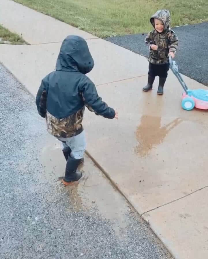 jump in the puddles outdoor activity