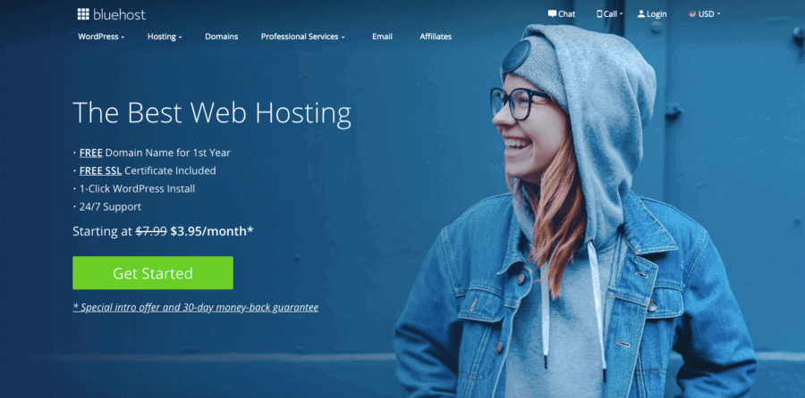 Bluehost how to start a blog