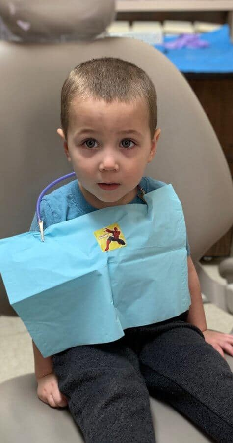 Oliver at the dentist