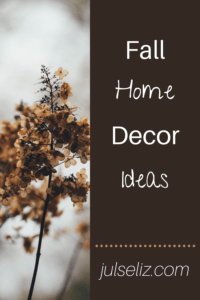 Fall Home Decor Pin