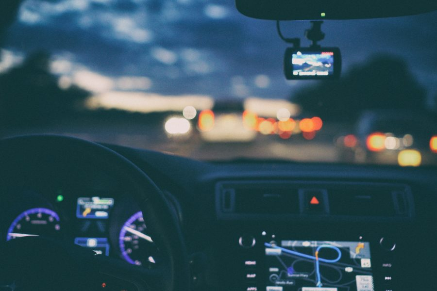 Road Trip at night