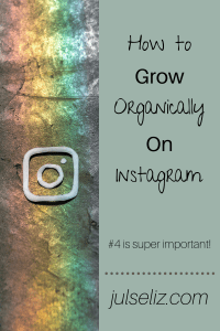 How to grow organically on instagram pin